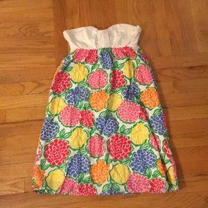 Lilly Pulitzer strapless cotton sundress